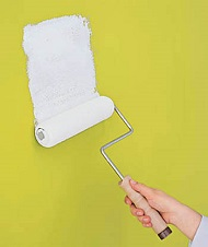 diy paint projector screen simple